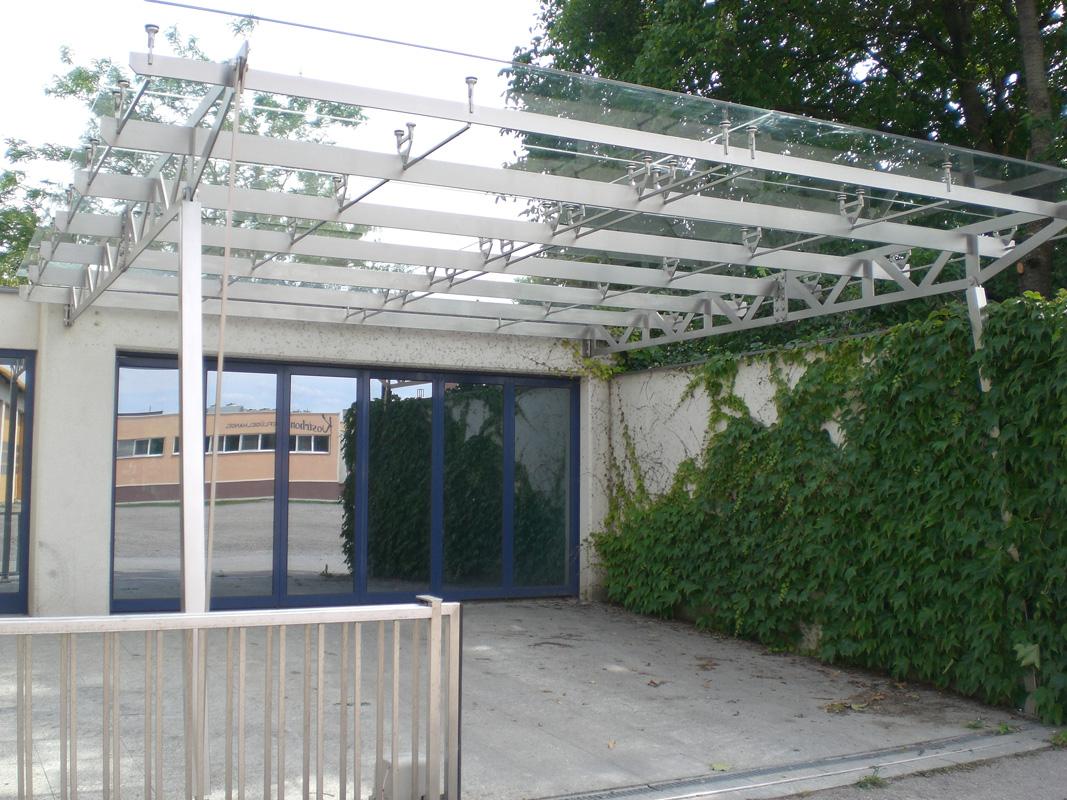 alu carport mit glasdach anbaucarport aus aluminium typ g deluxe mit glasdach glasdach. Black Bedroom Furniture Sets. Home Design Ideas